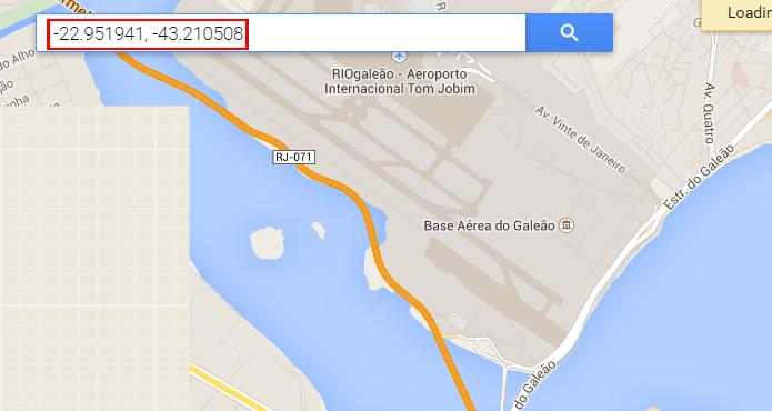 Busca do Google Maps também aceita pesquisas com coordenadas (foto: Reprodução/Google)