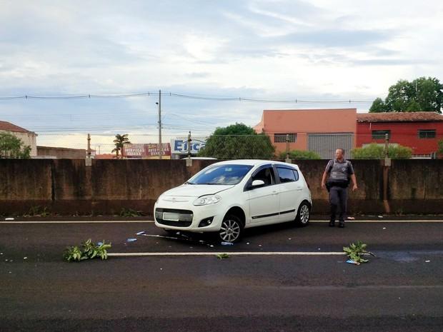 Motorista e passageiros do Fiat Pálio sofreram ferimentos leves (Foto: Divulgação)