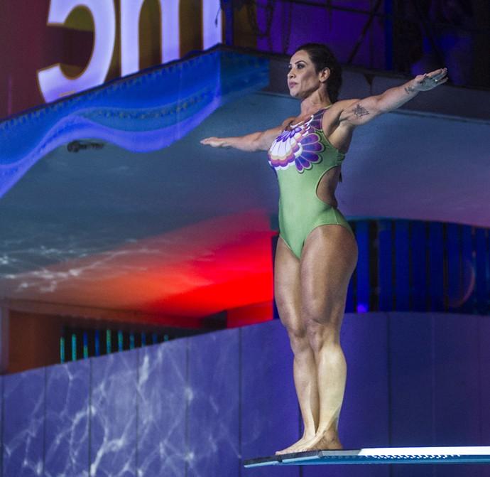 Scheila arrasa em seu primeiro salto (Foto: Maurício Fidalgo/TV Globo)
