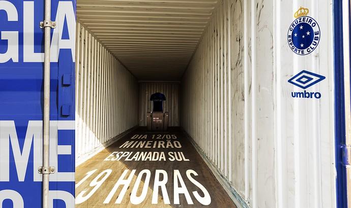 Convite do lançamento do novo uniforme do Cruzeiro (Foto: Reprodução)