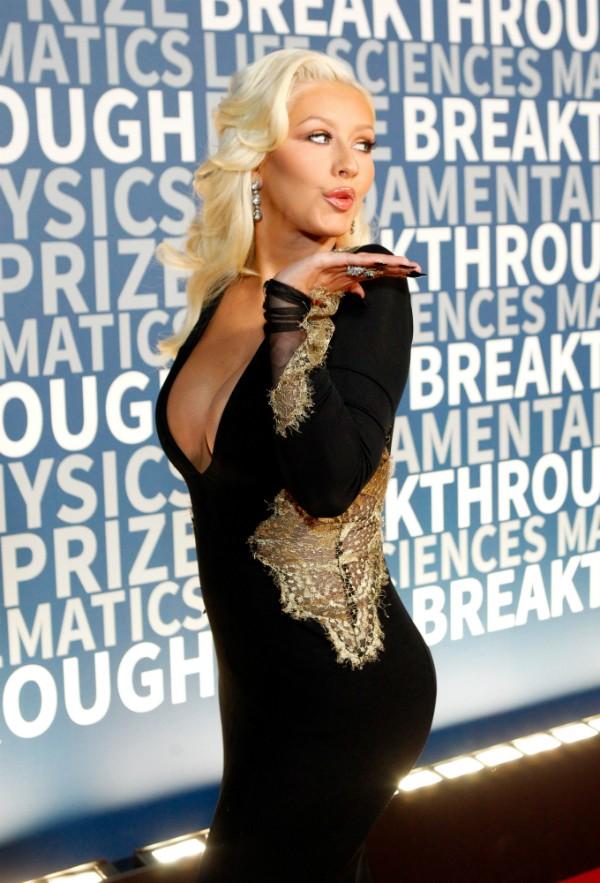 Christina Aguilera durante um evento na Califórnia (Foto: Getty Images)