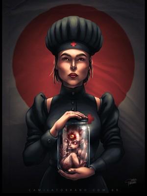 Oni & Nurse, concept art de Camila Torrano (Foto: Arquivo pessoal)