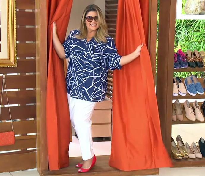 Fabiana Karla mostra seu estilo no 'Estrelas' (Foto: TV Globo)