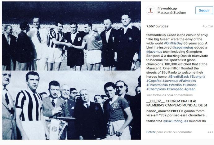 Conta oficial da Fifa no Instagram dá os parabéns ao Palmeiras pelo título  da Copa Rio 67c7cb95b84cd