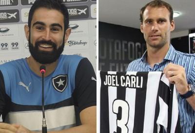 MONTAGEM - Renan Fonseca e José Carli Botafogo (Foto: Editoria de Arte)