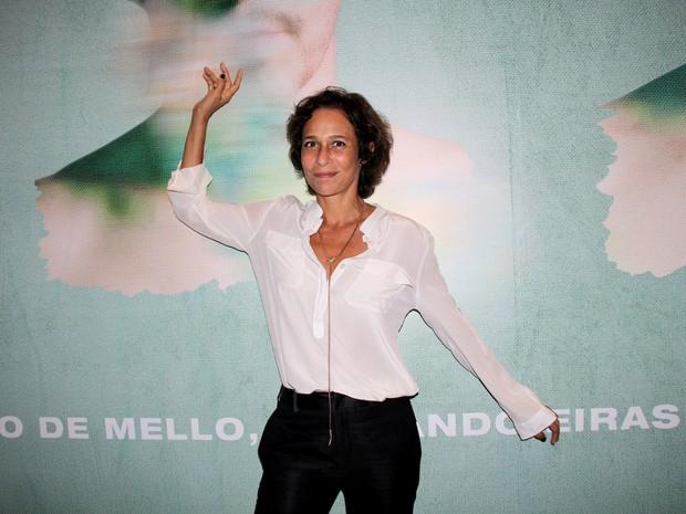 Andréa Beltrão em estreia de peça na Zona Sul do Rio (Foto: Alex Palarea/ Ag. News)