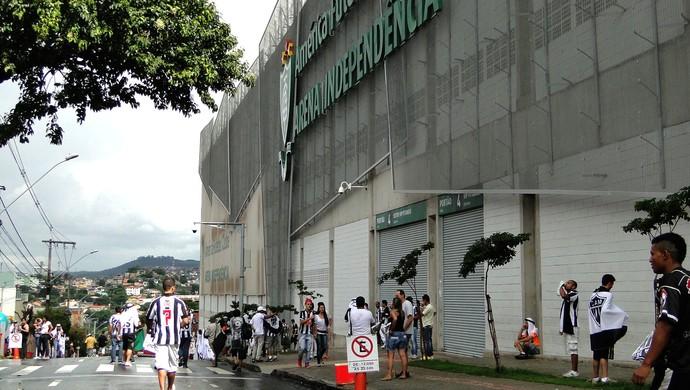 Torcedor Atletico Mg no Indepa (Foto: Mauricio Paulucci)