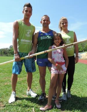 Família Spinelli (Foto: Clayton Santos / Globoesporte.com)