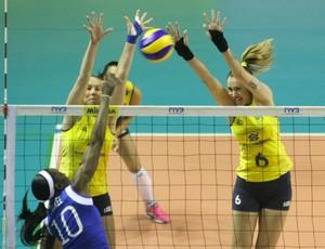 vôlei Fabiola e Thaisa Brasil x Venezuela pre olímpico (Foto: Alexandre Arruda / CBV)