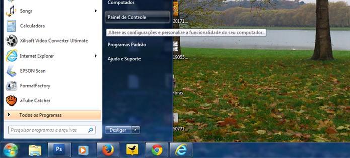 Entrando no Painel de Controle do Windows 7 (Foto: Reprodução/Vinícius Sacramento)