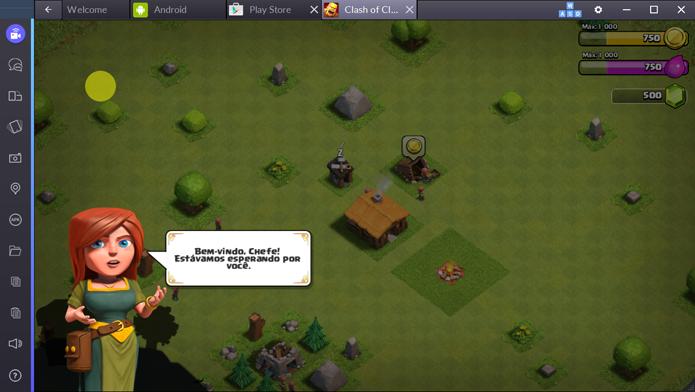 Jogando Clash of Clans no PC (Foto: Reprodução/André Mello)