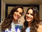 Bruna Marquezine posa com Ivete e ganha elogio: 'Princesinha linda'