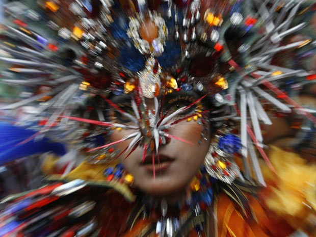 Desfile na Indonésia (Foto: Sigit Pamungkas/Reuters)