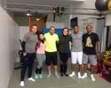 Luiz Adriano aproveita férias para manter a forma e fala sobre temporada; veja fotos