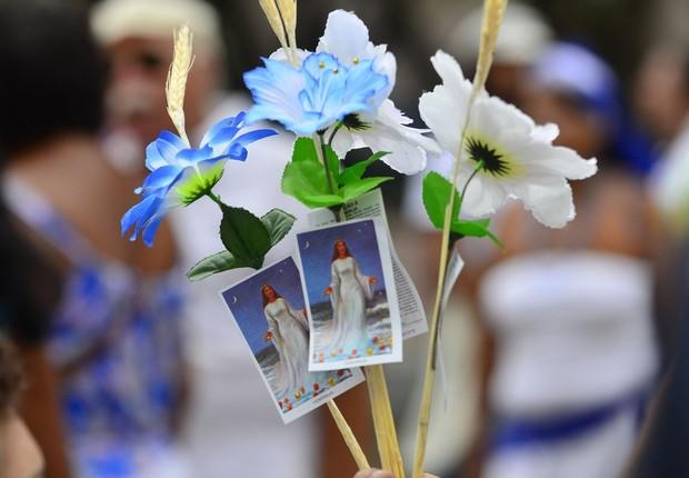 Devotos celebram Dia de Iemanjá no Rio de Janeiro (Foto: Tânia Rego/Agência Brasil)