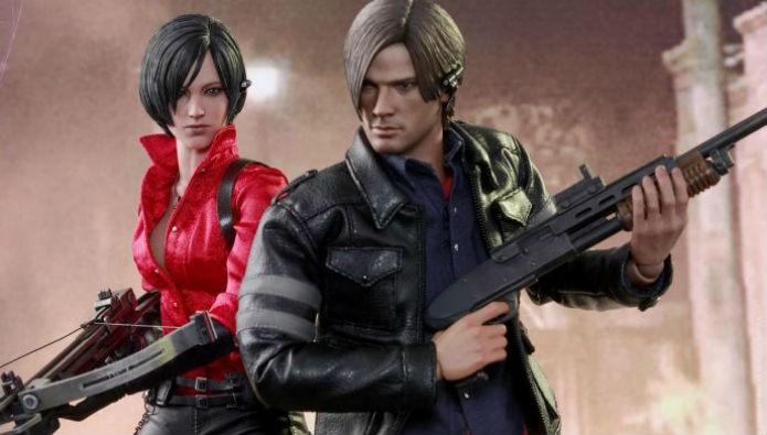 Leon e Ada, de Resident Evil 6, estão entre os lançamentos recentes da Hot Toys (Foto: Divulgação/Hot Toys)