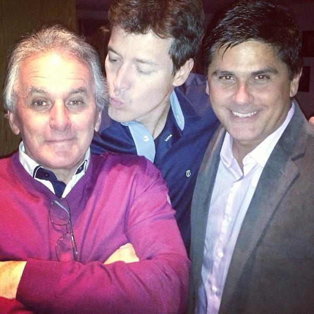 Otávio Mesquita, Rodrigo Faro e César Filho em festa em São Paulo (Foto: Instagram/ Reprodução)