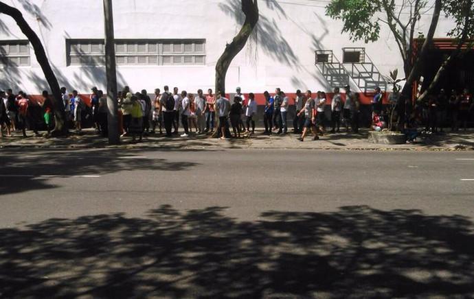 fila gavea flamengo x coritiba (Foto: Globoesporte.com)