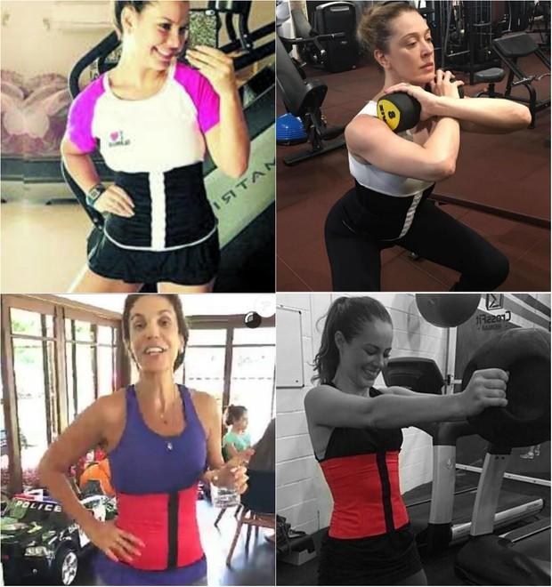 Fernanda Souza, Claudia Raia, Ivete Sangalo e  Paolla Oliveira também usam cinta modeladora na hora de malhar (Foto: Reprodução do Instagram)