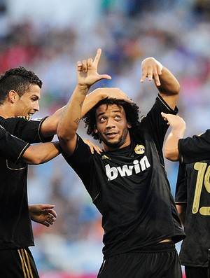 marcelo real madrid gol zaragoza (Foto: Agência Getty Images)