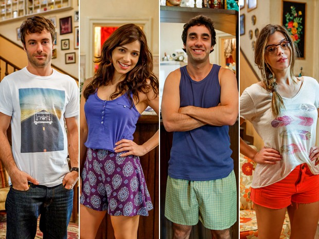 Israel, Itália, Afeganistão e Bélgica são filhos de Manuel e foram criados pelo pai e pela madrasta Argentina, também conhecida como Tina (Foto: Artur Meninea/ TV Globo)