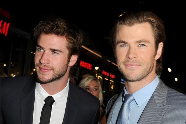 Os irmãos Liam e Chris Hemsworth (Foto: Getty Images)