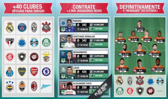 Fantasy Manager tem clubes reais e modo vs online (Foto: Divulgação)
