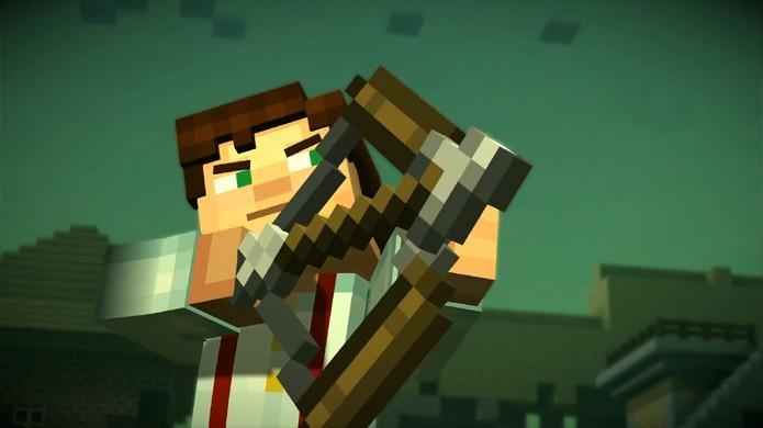 O herói Jesse continua sua busca pela Order of the Stone no segundo episódio de Minecraft: Story Mode (Foto: Reprodução/YouTube)
