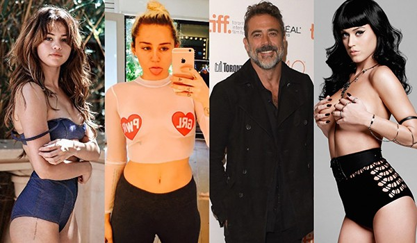 Selena Gomez, Miley Cyrus, Jeffrey Dean Morgan, Katy Perry (Foto: Getty Images / Instagram / Divulgação)