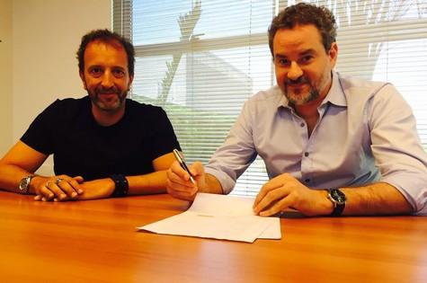 Diego Guebel, diretor geral de conteúdo da Band, e Dan Stulbach (Foto: Divulgação/BAND)