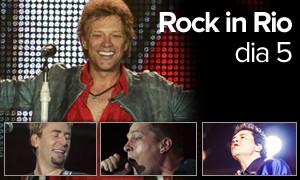 Bon Jovi beijou fã e Nickelback tocou 'o' hit; Matchbox teve o galã (Arte/G1)