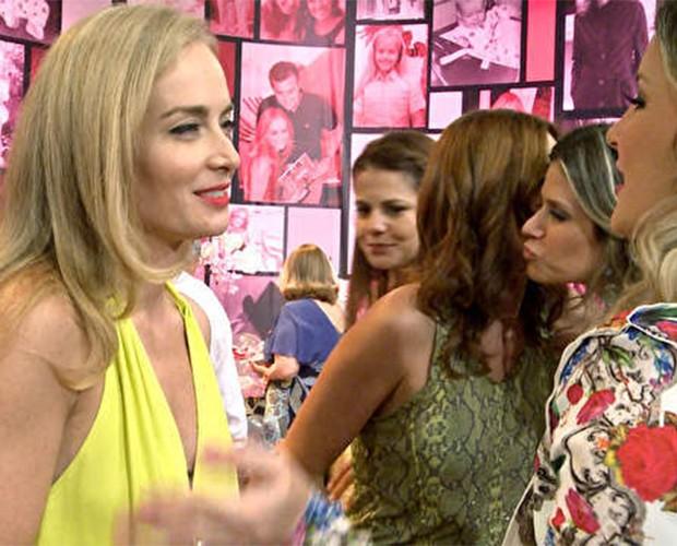 Bastidores da festa surpresa da apresentadora Angélica (Foto TV