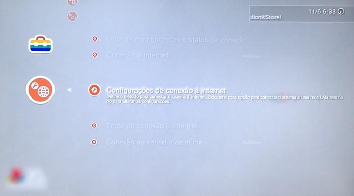 é possível se conectar via cabo ou via wireless (Foto: Reprodução/Cássio Barbosa)