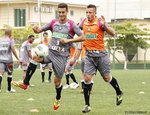João Paulo Goiano e Diogo treinam no Figueirense (Foto: Luiz Henrique, FFC)