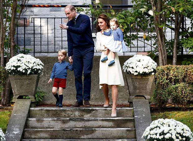 Kate Middleton, príncipe William e filhos (Foto: Reuters agência)