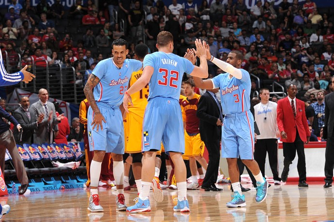 Griffin lidera Los Angeles Clippers na vitória sobre o Cleveland Cavaliers (Foto: AFP)
