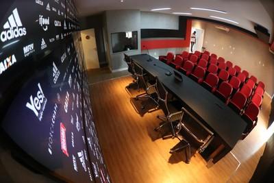 sala de imprensa flamengo (Foto: Gilvan de Souza/Flamengo)