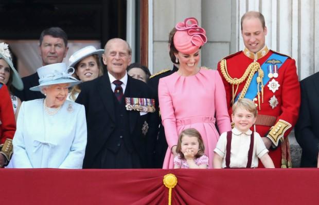 Príncipe George durante as comemorações do aniversário da rainha (Foto: Getty Images)