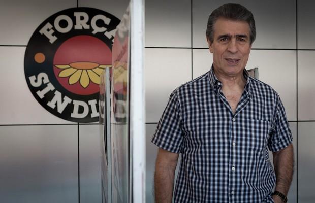 O ex-ministro Antonio Rogério Magri na sede da central Força Sindical, em São Paulo (Foto: Caio Kenji / G1)