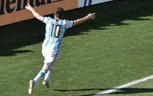 Messi comemoração da Argentina (Foto: Agência AFP)