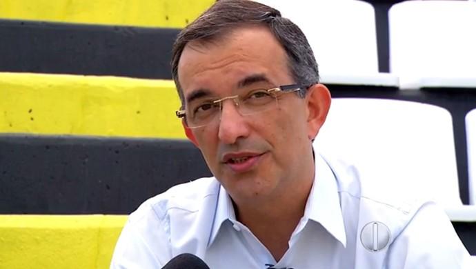 Fabiano Teixeira - candidato à presidência do ABC (Foto: Reprodução/Inter TV Cabugi)