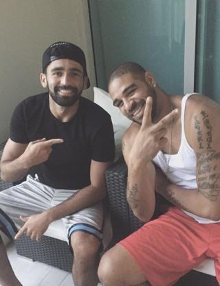 Adriano e Diego Lima Miami United (Foto: Arquivo Pessoal)