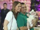 Solange Almeida vai à festa dos filhos de Xand, do Aviões do Forró