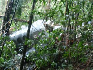 Dois corpos foram achados no local onde o avião caiu (Foto: Sandro Soares/Arquivo Pessoal)