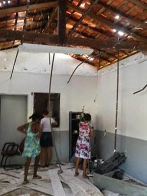 Posto do Bradesco ficou destruído em Altamira do MA (Foto: Neto Macedo / Arquivo Pessoal)