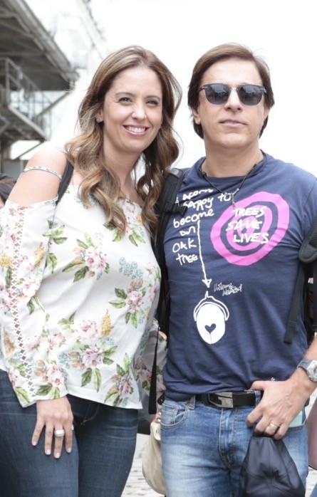 Tom Cavalcante e a mulher, Patrícia (Foto: Manuela Scarpa e Rafael Cusato/Brazil News)