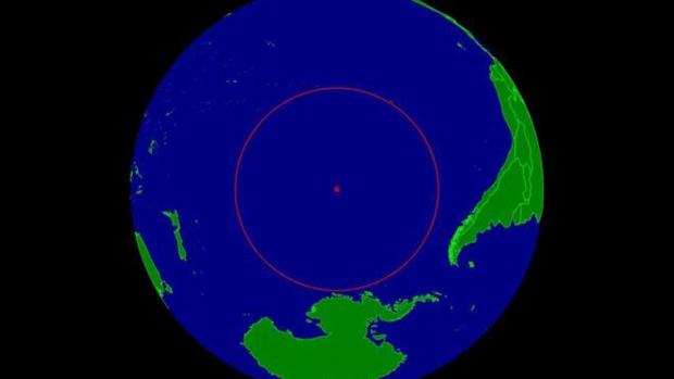 Batizado de 'Ponto Nemo', local fica a 1,6 mil quilômetros de três ilhas  (Foto: Timwi)