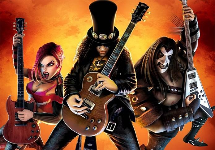 Personagens desenhados por Cameron no Guitar Hero III (Foto: Divulgação)