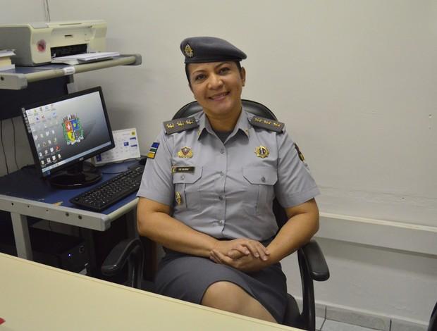 Coronel feminina é revelação no tiro prático e exemplo de vida no AP (Foto: Cassio Albuquerque/GE-AP)
