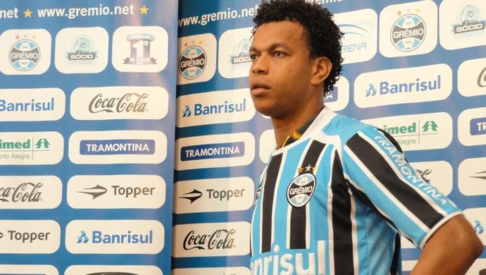 Edcarlos no Grêmio (Foto: Eduardo Cecconi/Globoesporte.com)